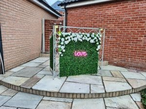 Flower Wall DJ Booth - Wedding DJ